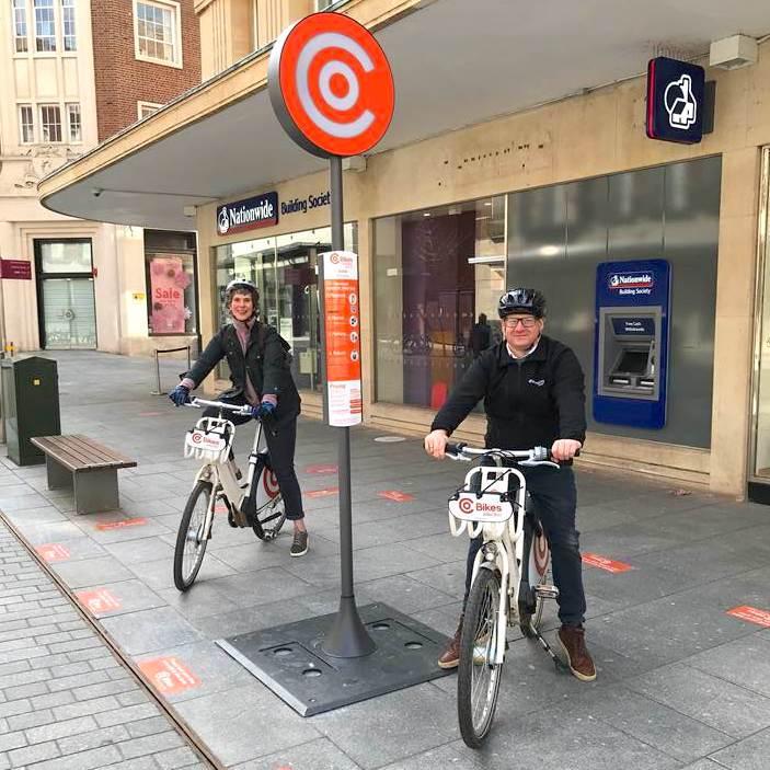 Electric bike hire at Princesshay
